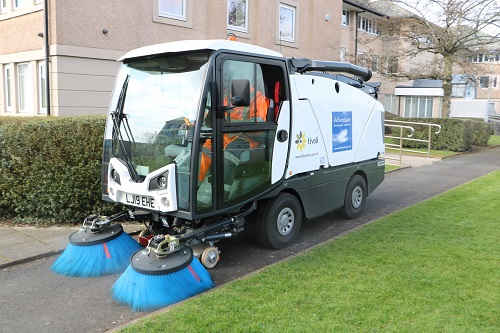One of the new Tivoli road sweepers in action at Allerdale House