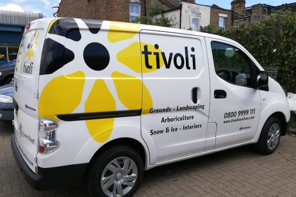 Tivoli's new eNV200 electric vehicle in Walthamstow