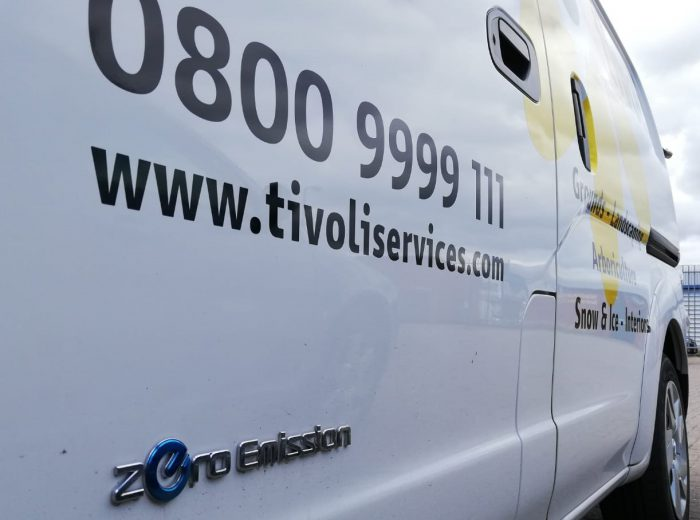 Tivoli's new eNV200 electric vehicle in Walthamstow - zero emissions