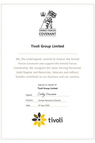 Tivoli - Armed Forces Covenant Pledge